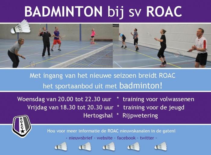 Badminton liggend hou